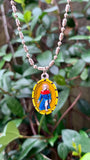 Peregrine, Hand-Painted Saint Medal, Patron Saint of Cancer Awareness, Invoked for Strength, Cures & Healing