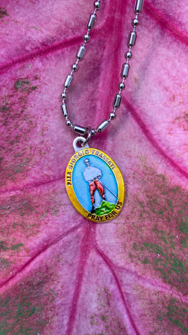 Pier Giorgio Frassati, Hand-Painted Saint Medal, Patron of Hikers, Mountain Climbers