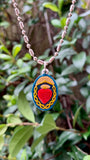Sacred Heart, Hand-Painted Medal, Love, Mercy, Salvation
