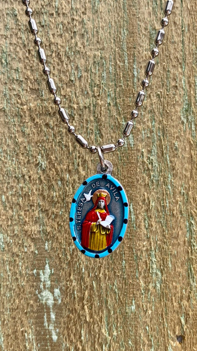 Teresa of Avila, Hand-Painted Medal, Doctor of the Church, Mystic, Patron of Truth
