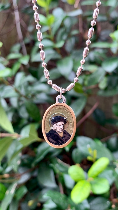 Thomas More, Hand-Painted Saint Medal, Utopia, British Parliament, Speaker of the House of Commons, Henry VIII, Martyr