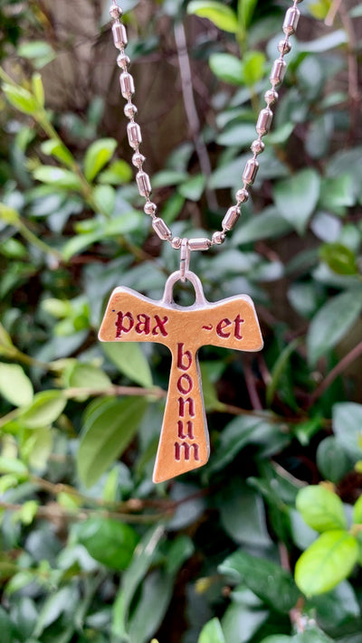 "Vatican Cross, ""Pax et Bonum,"" Peace and Goodness Be With You, Franciscan, Rome"