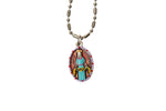 Saint Anastasia Miraculous Medal Necklace - Hand-painted on Italian Silver by Saints For Sinners
