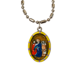 Saint Andrew Avellino Medal - Hand-Painted on Italian Silver by Saints For Sinners