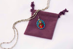 Saint Barbara Medal Necklace - Hand-painted on Italian Silver by Saints For Sinners