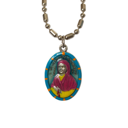 Saint Bernadette Soubirous Medal - Hand-Painted on Italian Silver by Saints for Sinners