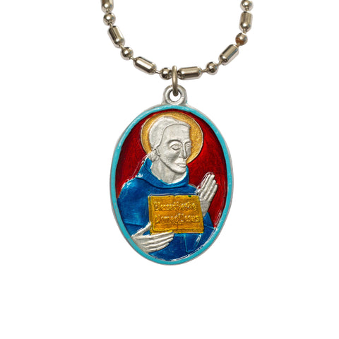 Blessed John Vercelli Medal - Hand-painted on imported Italian Silver by Saints for Sinners