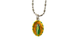 Saint Bridget Miraculous Medal - Hand-Painted on Italian Silver by Saints For Sinners