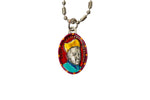 Saint Charles Borromeo Miraculous Medal - Hand-Painted on Italian Silver by Saints For Sinners