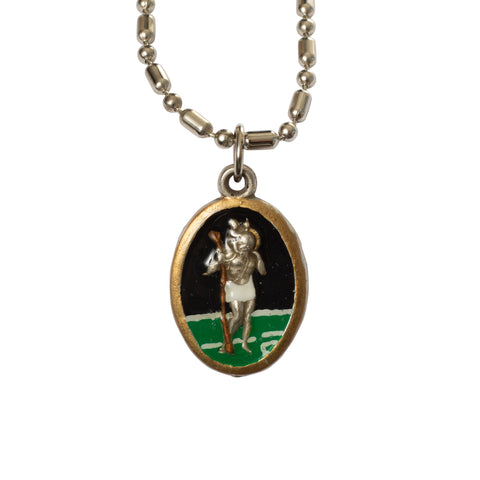 Saint Christopher Medal - Hand-Painted on Italian Silver by Saints For Sinners