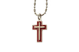 Enameled Silver Cross - Hand-Painted on Italian Silver by Saints For Sinners