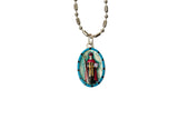 Saint Cyprian Miraculous Medal - Hand-Painted on Italian Silver by Saints For Sinners