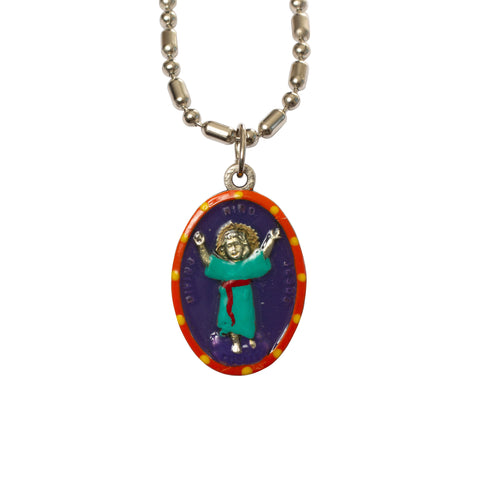 Divine Nino (Baby Jesus) Miraculous Medal - Hand-Painted on Italian Silver by Saints For Sinners