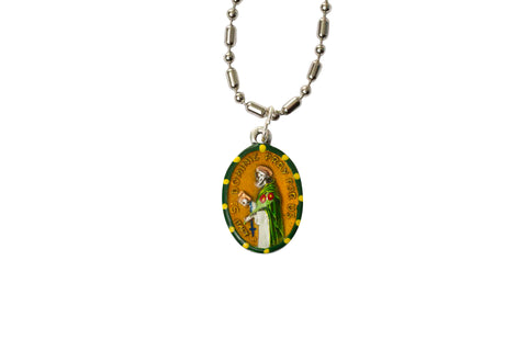 Saint Dominic Miraculous Medal - Hand-Painted on Italian Silver by Saints For Sinners