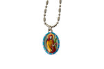 Saint Dorothy of Caesarea Miraculous Medal - Hand-Painted on Italian Silver by Saints For Sinners