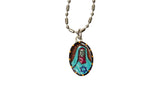 Saint Edith Stein Miraculous Medal - Hand-Painted on Italian Silver by Saints For Sinners