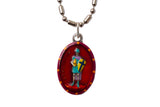 Saint Florian Miraculous Medal - Hand-Painted on Italian Silver by Saints For Sinners