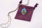 Saint Francis of Assisi Miraculous Medal - Hand-Painted on Italian Silver by Saints For Sinners