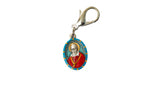 Saint Francis de Sales Miraculous Medal - Hand-Painted on Italian Silver by Saints For Sinners