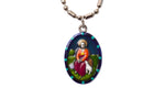 Saint Germaine Miraculous Medal Necklace - Hand-painted on Italian Silver by Saints For Sinners