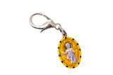 Infant Jesus in the Manger Miraculous Medal Necklace - Hand-painted on Italian Silver by Saints For Sinners