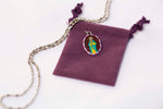 Saint James Miraculous Medal Necklace - Hand-painted on Italian Silver by Saints For Sinners
