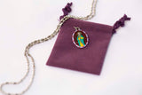 Saint James Medal Necklace - Hand-painted on Italian Silver by Saints For Sinners