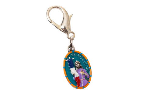 Saint Joan of Arc Miraculous Medal - Hand-Painted on Italian Silver by Saints For Sinners