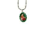 Saint John the Apostle Miraculous Medal Necklace - Hand-painted on Italian Silver by Saints For Sinners