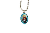 Saint Jude Medal Necklace - Hand-painted on imported Italian Silver by Saints For Sinners