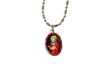 Saint Jude Thaddeus Medal Necklace - Hand-painted on imported Italian Silver by Saints For Sinners