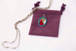 Saint Margaret Medal Necklace - Hand-painted on imported Italian Silver by Saints For Sinners