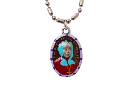 Saint Marguerite D'Youville Medal - Hand-Painted on imported Italian Silver by Saints For Sinners