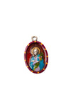 Saint Maria Goretti Medal - Hand-Painted on imported Italian Silver by Saints For Sinners