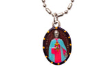 Saint Martin de Porres Medal - Hand-Painted on imported Italian Silver by Saints For Sinners