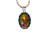 Saint Martin of Tours Medal - Hand-Painted on imported Italian Silver by Saints For Sinners