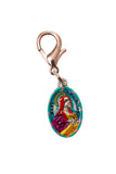 Saint Mary Magdalen Medal Necklace - Hand-painted on imported Italian Silver by Saints For Sinners