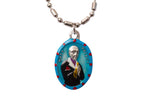 Saint Matt Talbot Medal Necklace - Hand-painted on imported Italian Silver by Saints For Sinners