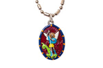 Saint Michael the Archangel Medal - Hand-Painted on imported Italian Silver by Saints For Sinners