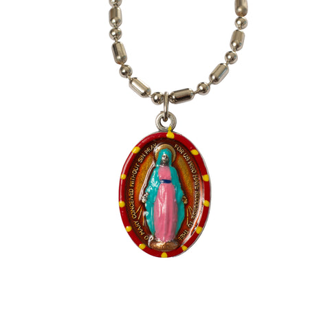 Miraculous Medal (Small) - Hand-Painted on Italian Silver by Saints For Sinners