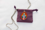 Miraculous Medal (Large) - Hand-Painted on Italian Silver by Saints For Sinners