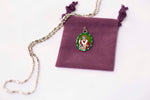 Saint Nicholas Medal Necklace - Hand-painted on Italian Silver by Saints For Sinners