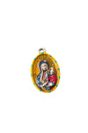 Our Lady of Czestochowa Miraculous Medal - Hand-Painted on Italian Silver by Saints For Sinners