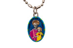 Our Lady of La Vang Miraculous Medal - Hand-Painted on Italian Silver by Saints For Sinners