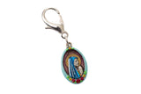 Our Lady of Lourdes - #2/Flower Border, Hand-Painted Saint Medal, Patron of France, Miracles