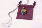 Our Lady of Perpetual Succor Medal - Hand-Painted on imported Italian Silver by Saints For Sinners