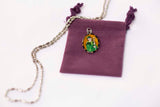 Saint Patrick Medal - Hand-Painted on imported Italian Silver by Saints For Sinners