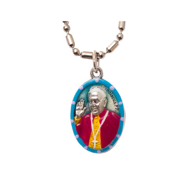 "Pope Francis, Hand-Painted Medal, The People's Pope, Patron Saint of Catholic Reformation, Catholic Renaissance; ""Who am I to Judge?"" - Pope Francis"