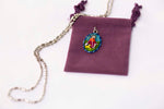 Saint Rocco Medal - Hand-Painted on imported Italian Silver by Saints For Sinners