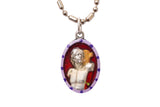Saint Sebastian Medal - Hand-Painted on imported Italian Silver by Saints For Sinners